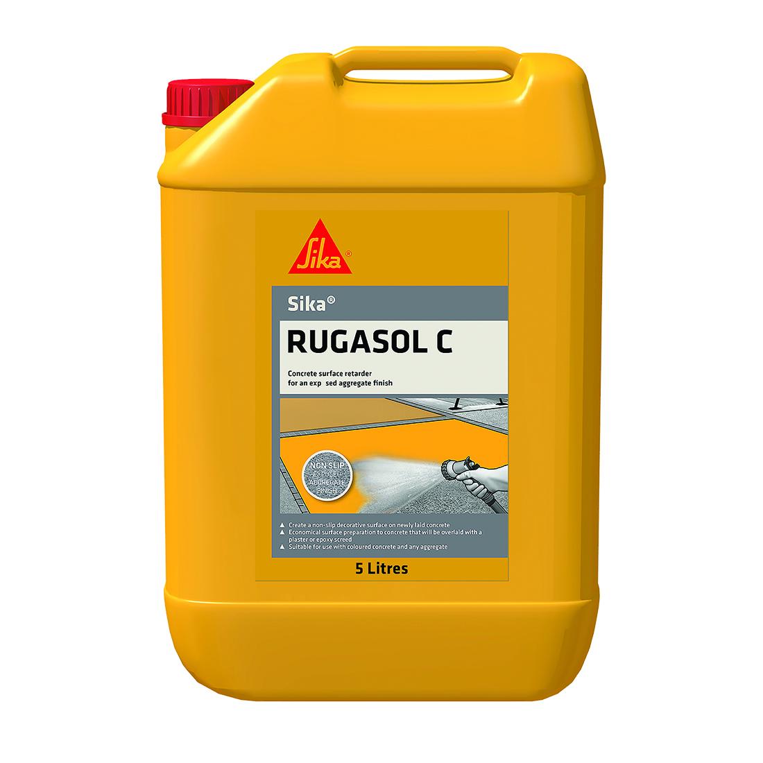 Rugasol 'C' 5L Transparent Concrete Surface Retarder Red
