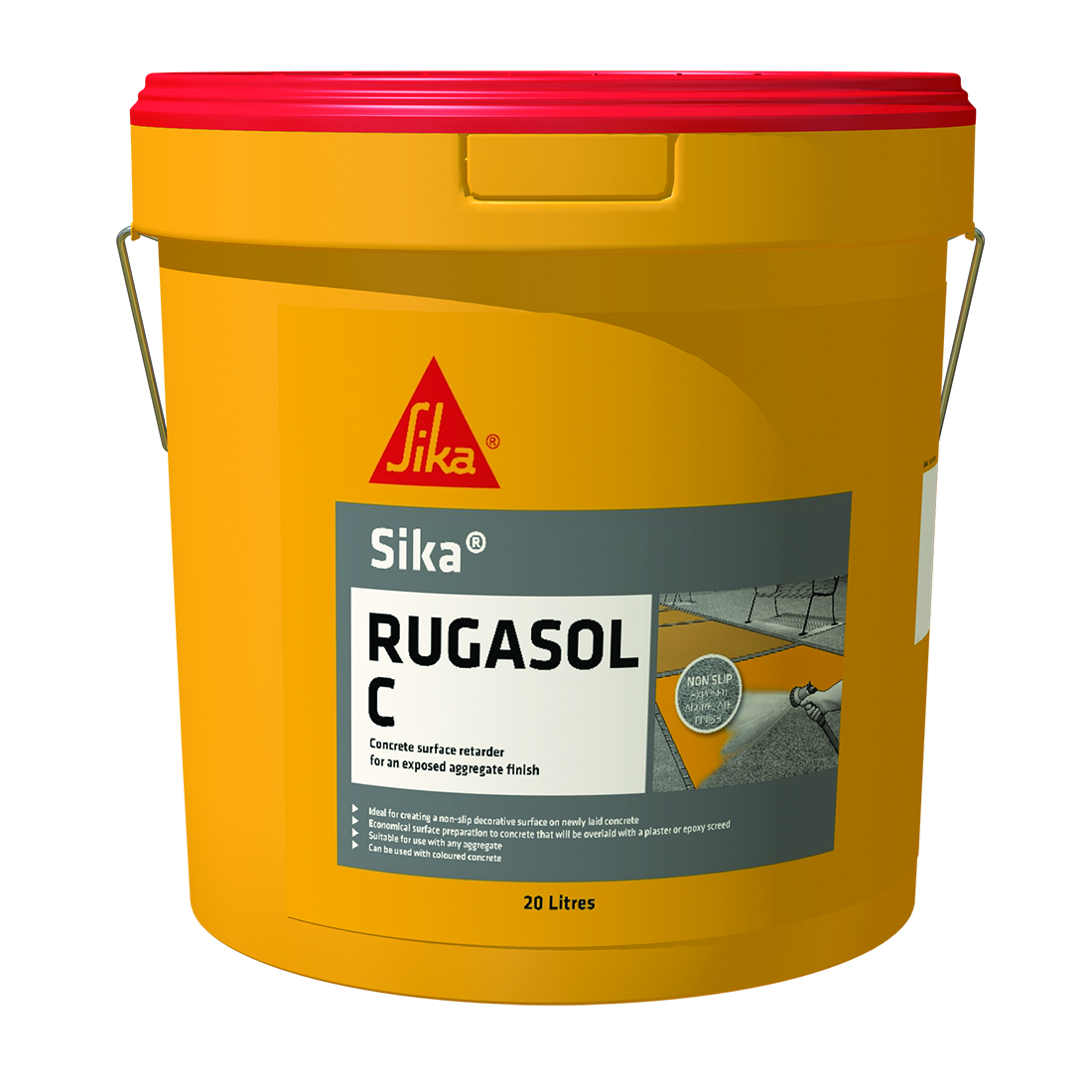 Rugasol 'C' 20L Transparent Concrete Surface Retarder Red