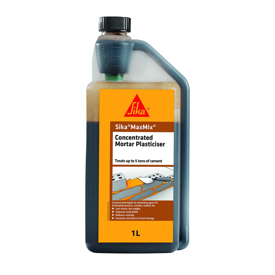 Maxmix 1L Concentrated Mortar Plasticizer Brown