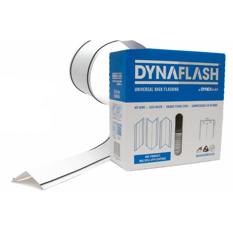 DynaFlash 75x75mmx25m Universal Back Flashing White