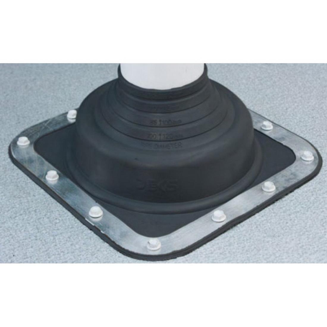 Dektite Premium #2 EPDM Black Base 181mm x 181mm Pipe 50-70mm DFE102BA