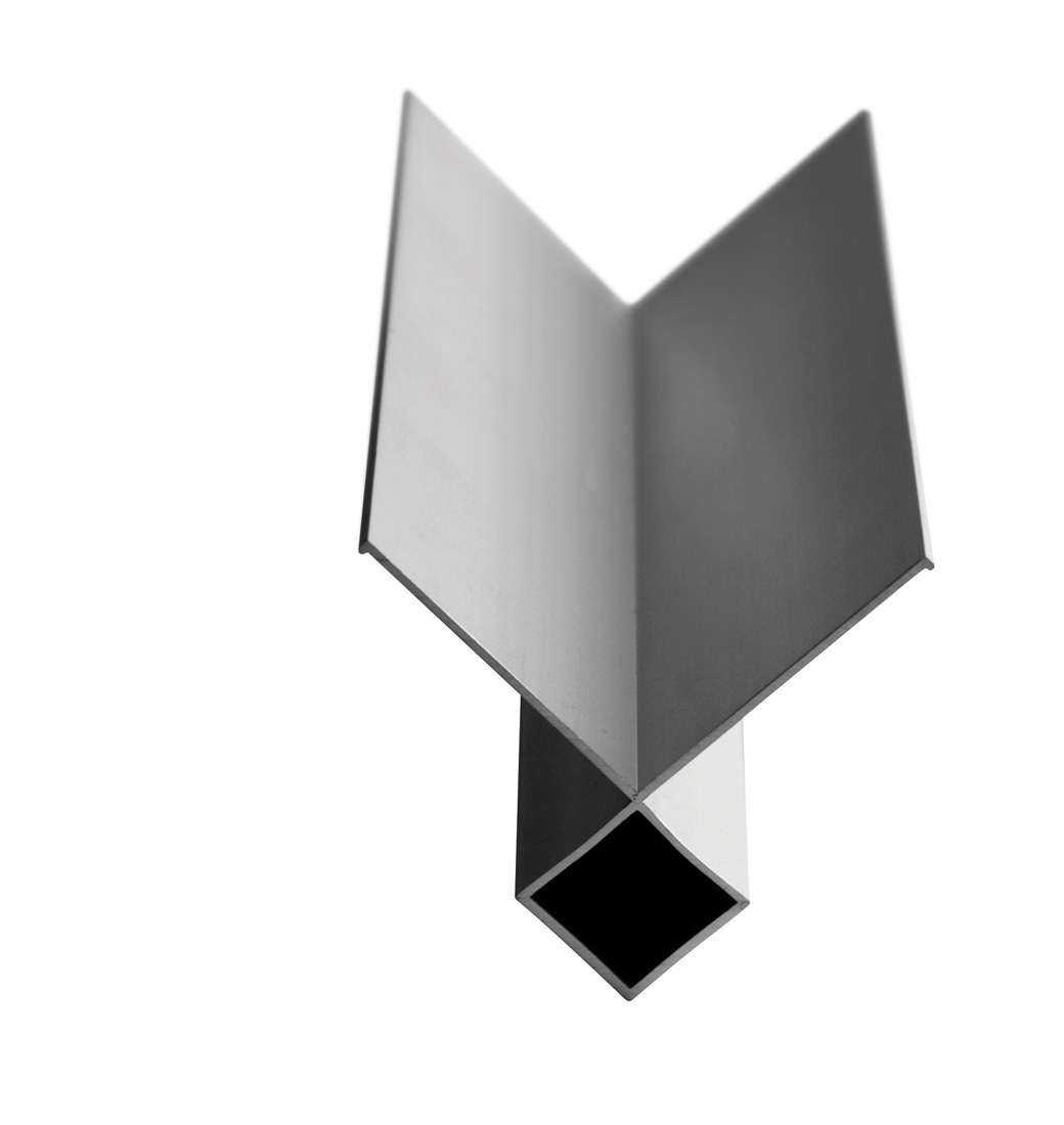 Shadowclad Aluminium Natural Anodised External Box Angle Flashing 3.0M