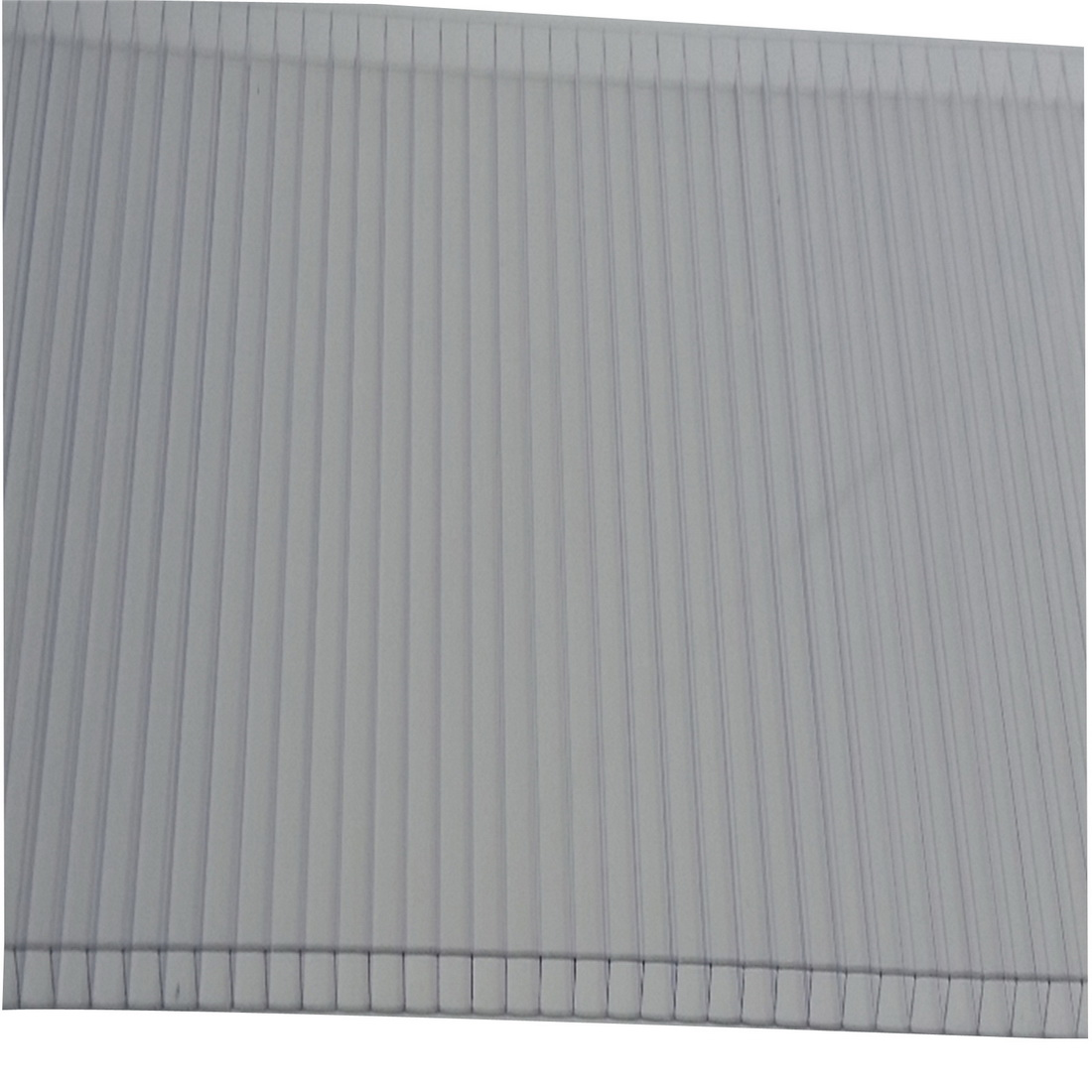 Twinwall Fluted Roofing 3000 x 1220 x 8mm Polycarbonate Clear 9418815042954