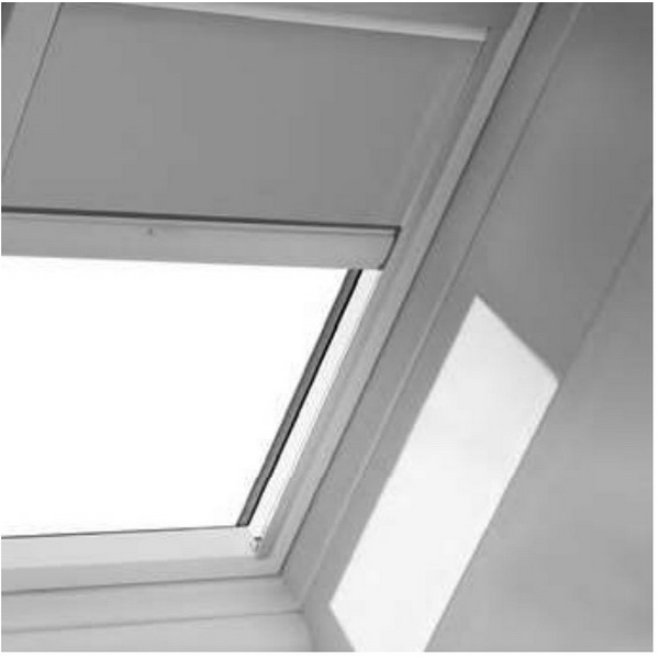 Velux DSC Solar Blockout Blind For FCM/VCM/VCS Polyster White DSC 3434 1025