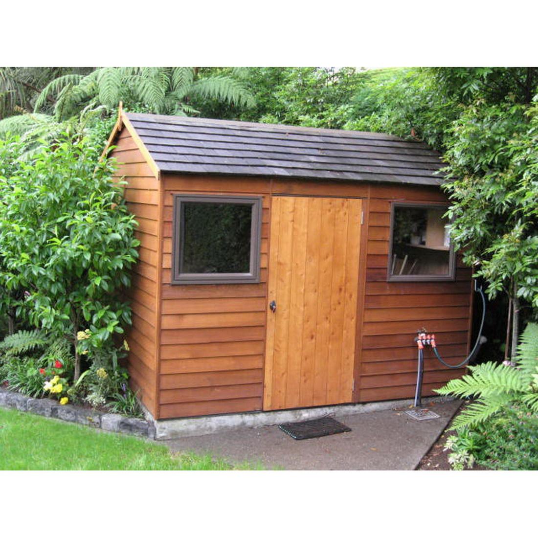 Montrose Coloursteel Roof Kitset Garden Timber Shed 3 x 2.5 x 2.46 m Natural CMOC