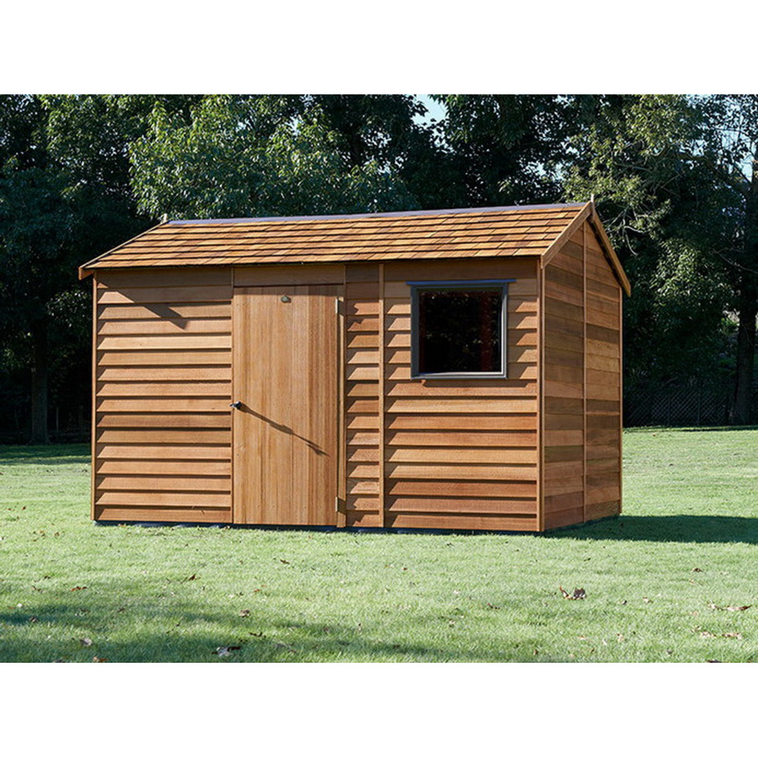 Bentley Shinglel Roof Kitset Garden Timber Shed 3.6 x 2.5 x 2.46 m Natural CBS
