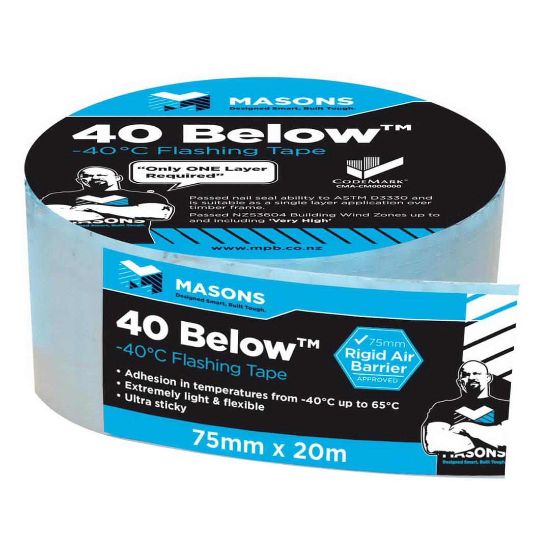 40 Below Flashing Tape 75mm x 20m