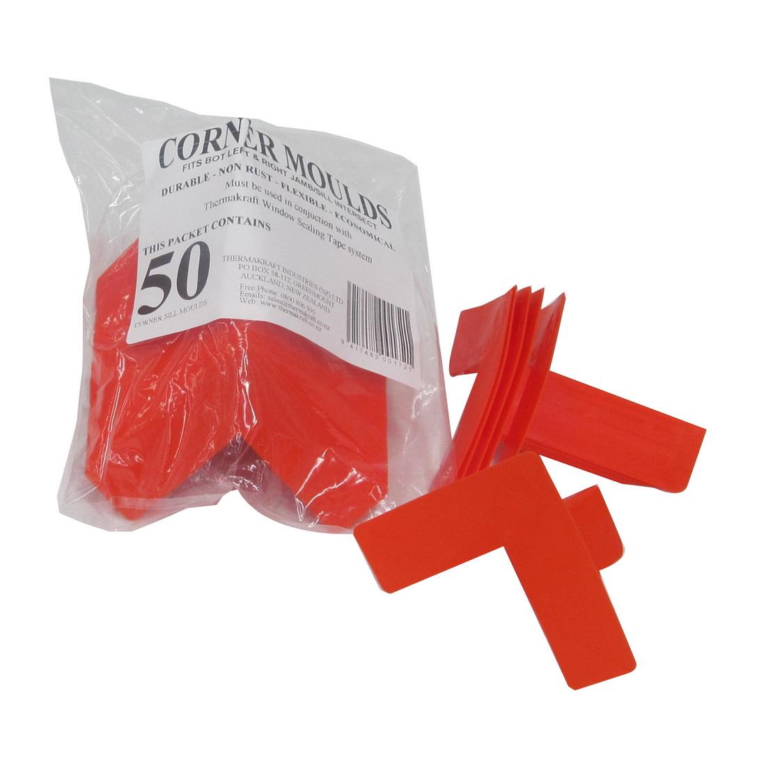 Corner Mould Plastic 80mm 50 Pack