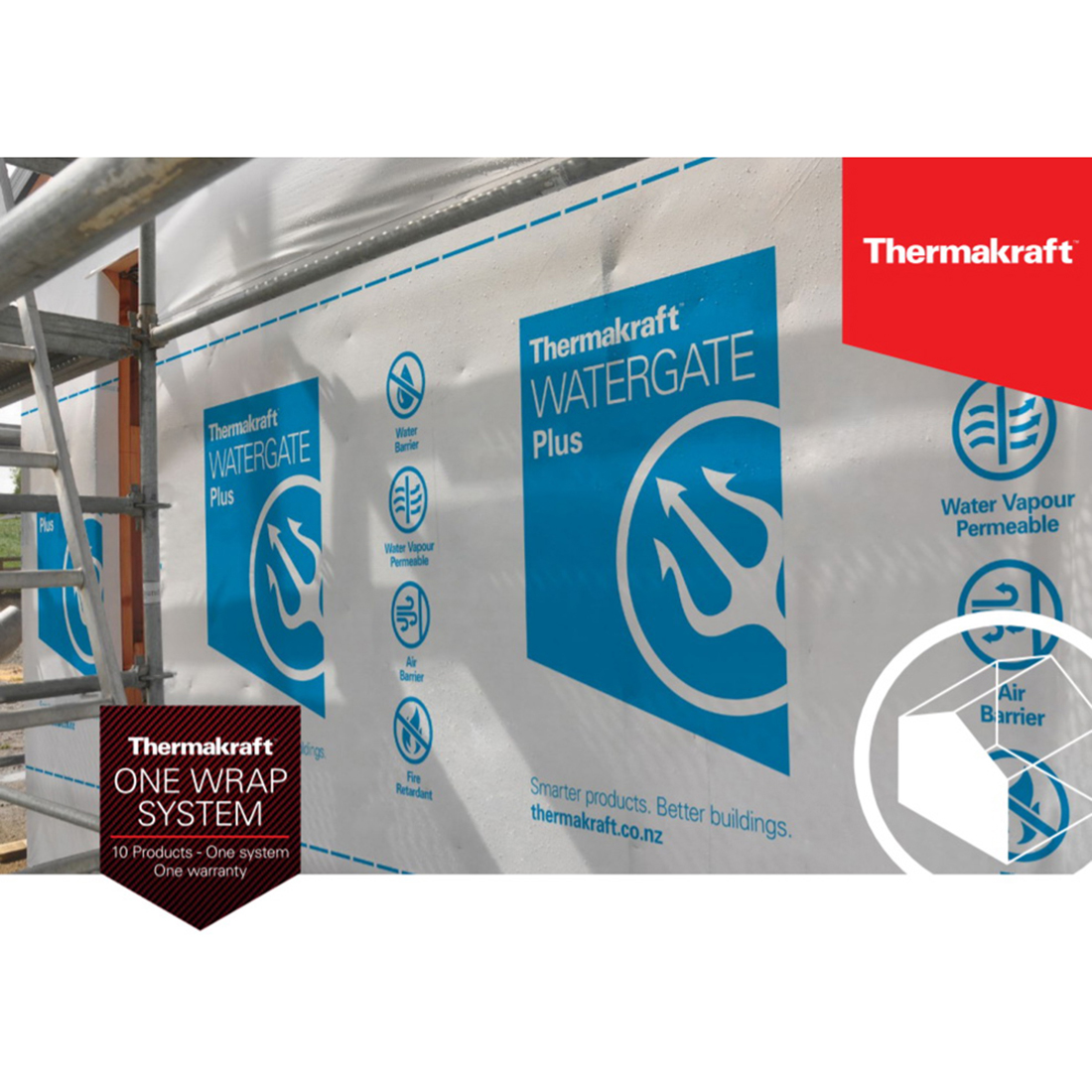 Watergate Plus Building Wrap OBG 2740mm x 36.5m 100m2
