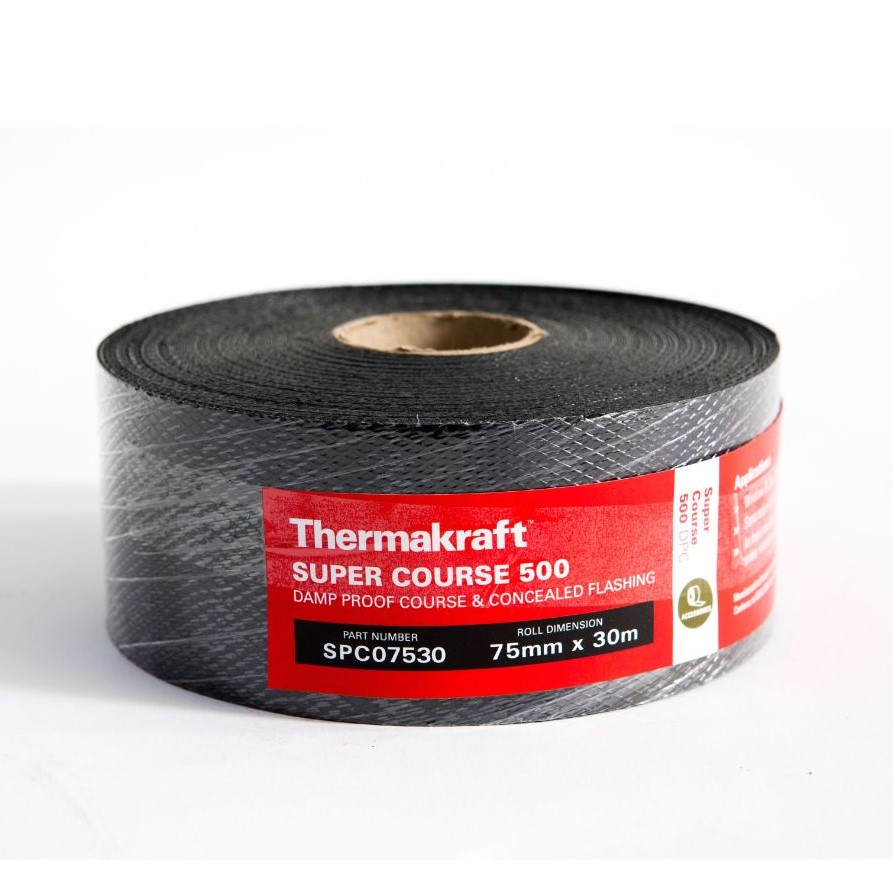 Supercourse 500 Damp Proof Course 75mm x 30m