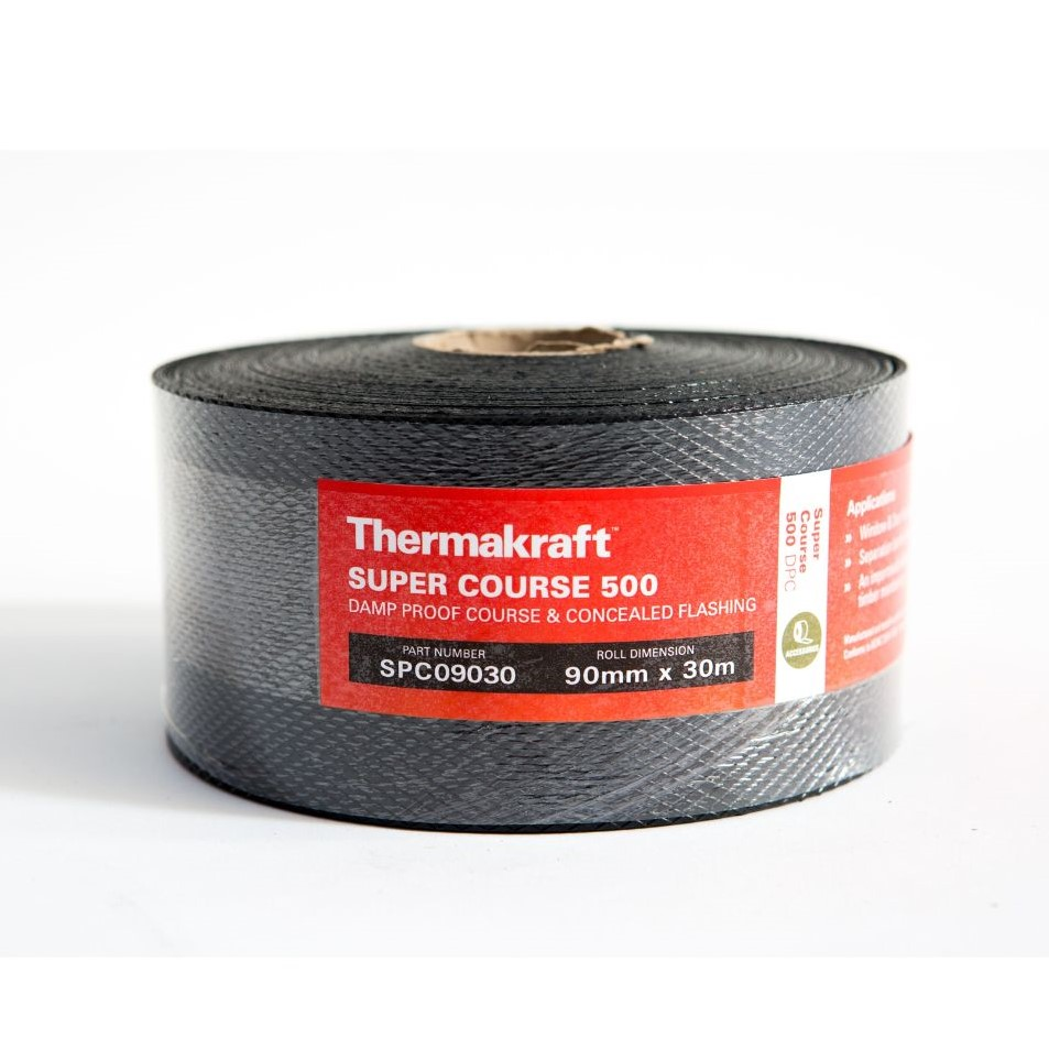 Supercourse 500 Damp Proof Course 90mm x 30m