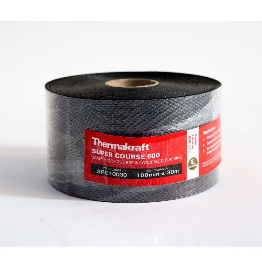 Supercourse 500 Damp Proof Course 100mm x 30m