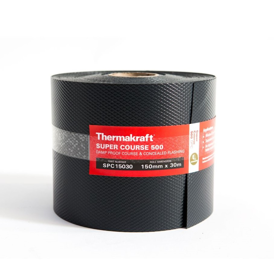 Supercourse 500 Damp Proof Course 150mm x 30m