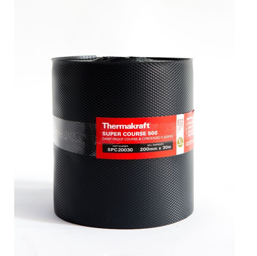 Supercourse 500 Damp Proof Course 200mm x 30m