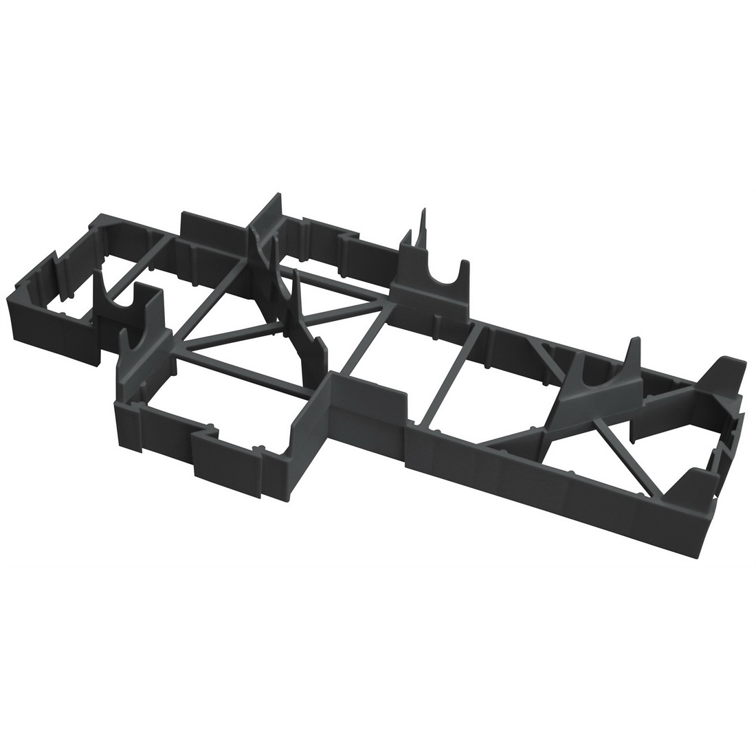 Expol Unimax Tuff Pod Spacer 50 x 200 x 400mm Black SPACERMAX