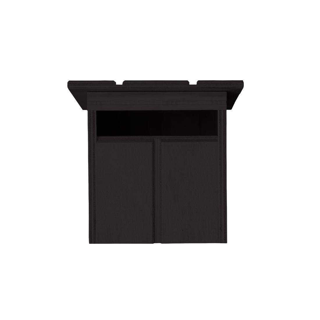 Cabin Letterbox Dark Brown