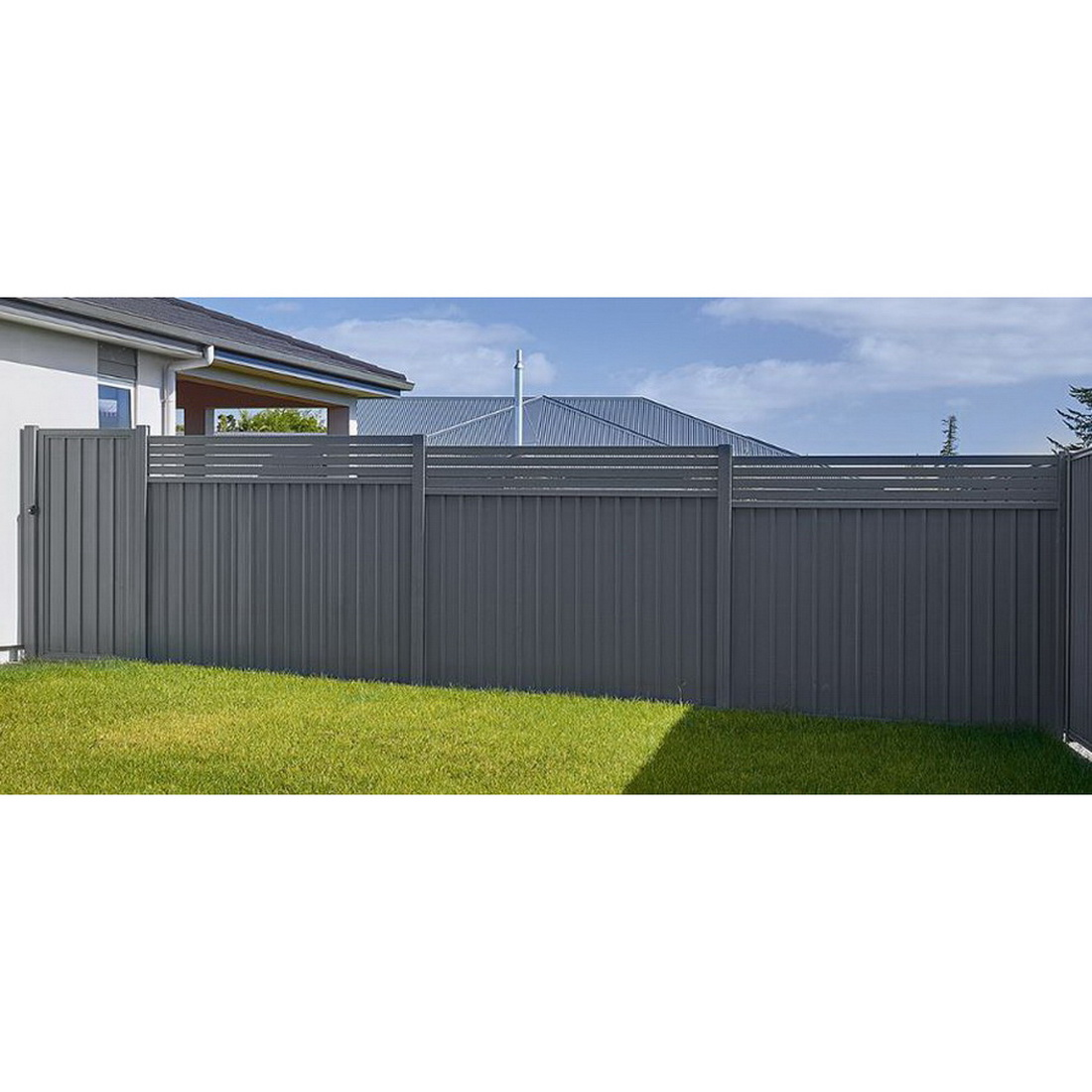 Frontier 1.2 Fence Panel 1200 x 2300mm Gull Grey