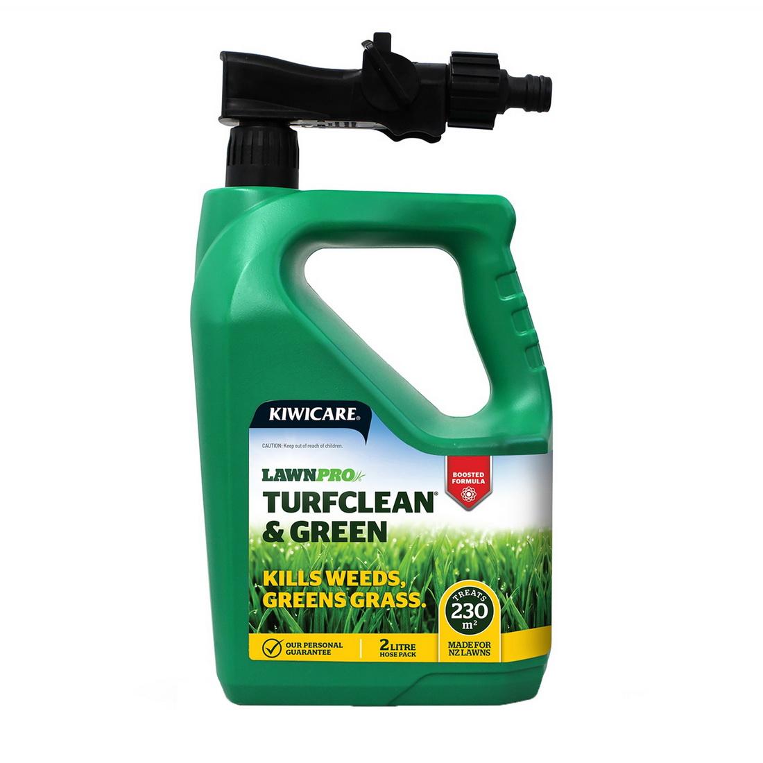 Lawnpro Turfclean & Herbicide Hose Pack Lawn Pest Control 2 L Brown Transparent G40127