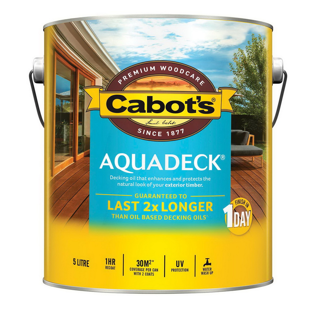 5L Aquadeck Decking Oil Matt Amber