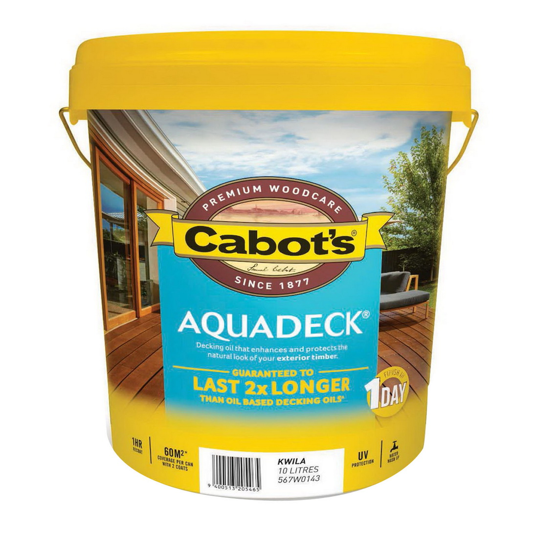 Aquadeck 10L Matt Decking Oil Kwila