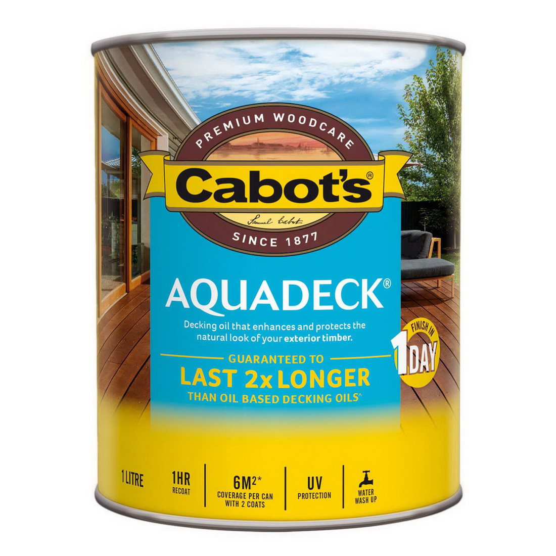 1L Aquadeck Decking Oil Matt Kwila