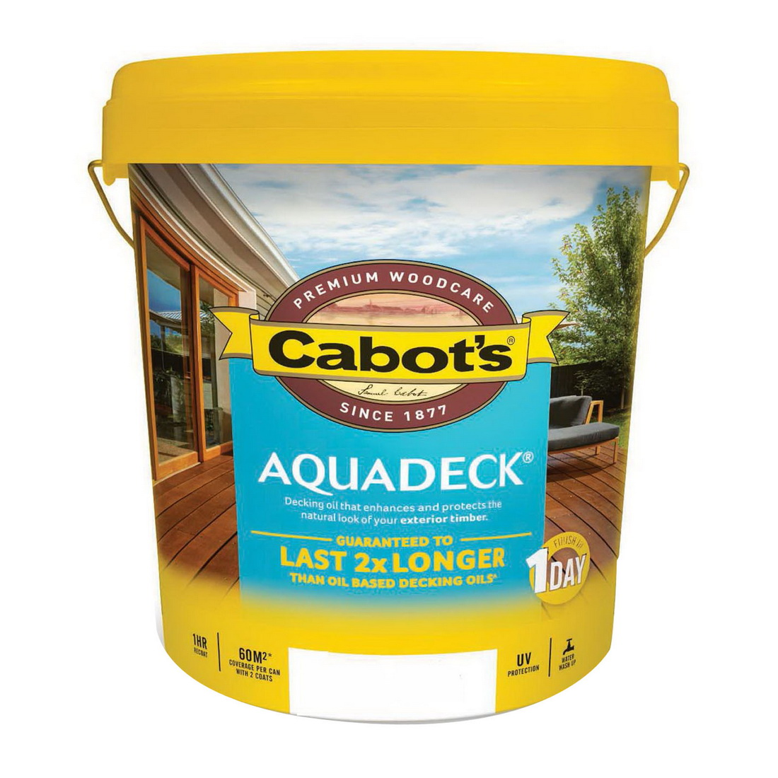 10L Aquadeck Decking Oil Matt Amber