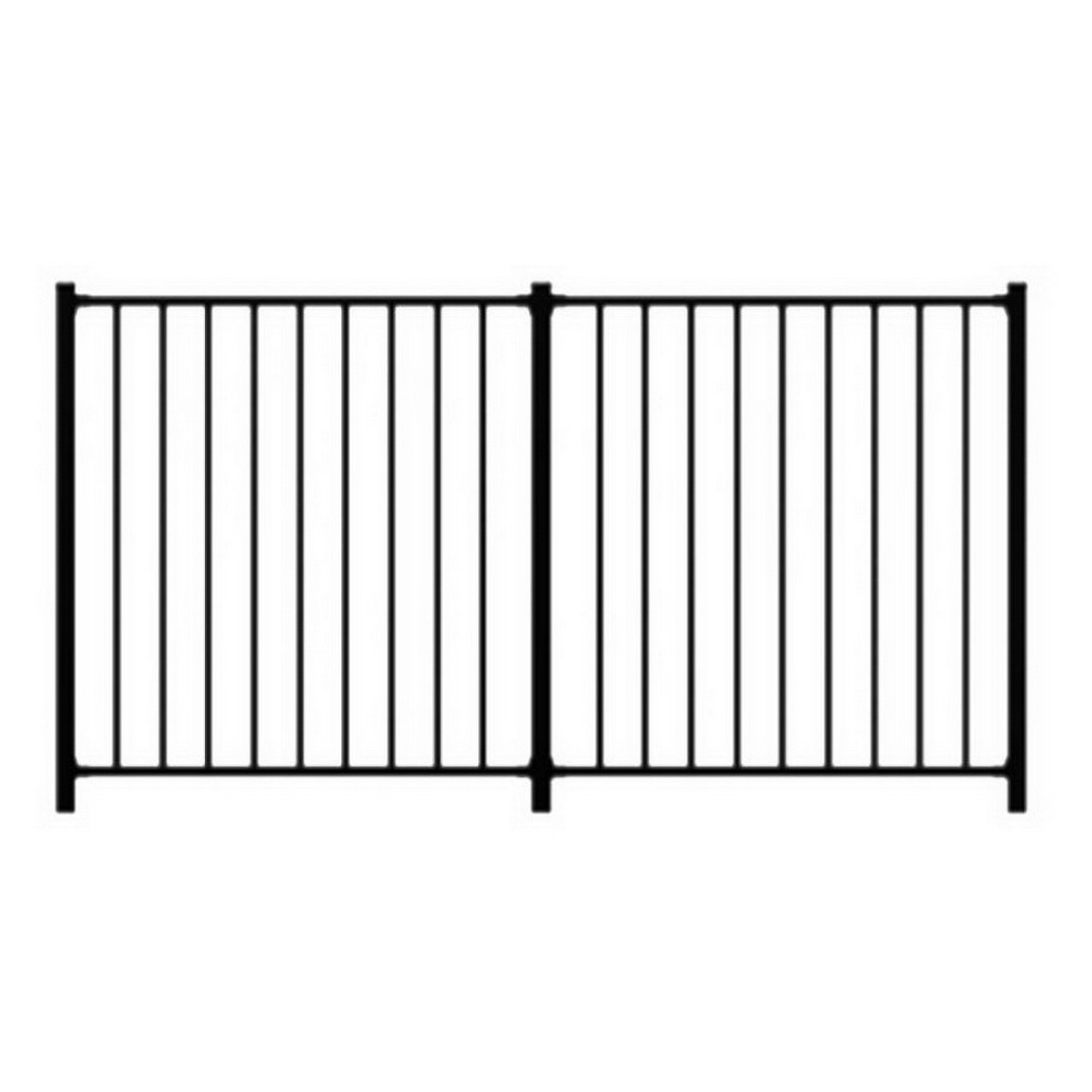 Lodge 1200H Balustrade Panel 1110 x 1200mm Powder Coat Aluminum Black FALBP1211