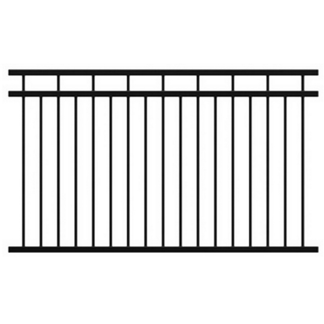 Mansion 1800H Fencing Panel 1800 x 2250mm Powder Coat Aluminum FAMFP1822