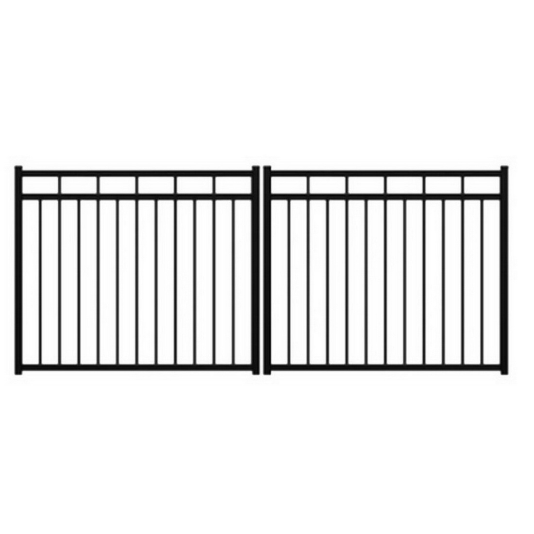 Mansion 1200H Driveway Gate 1200 x 3000mm Powder Coat Aluminum FAMDG1223