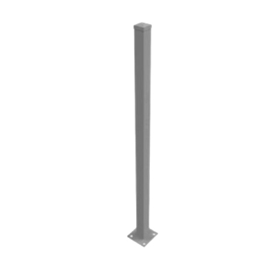Flanged Post 50 x 50 x 1300mm Aluminum Black FAF5013