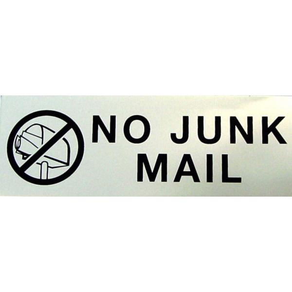 110x40mm NO JUNK MAIL Door Sign