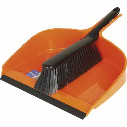 Hi Viz Maxi Mouth Brush & Pan Set