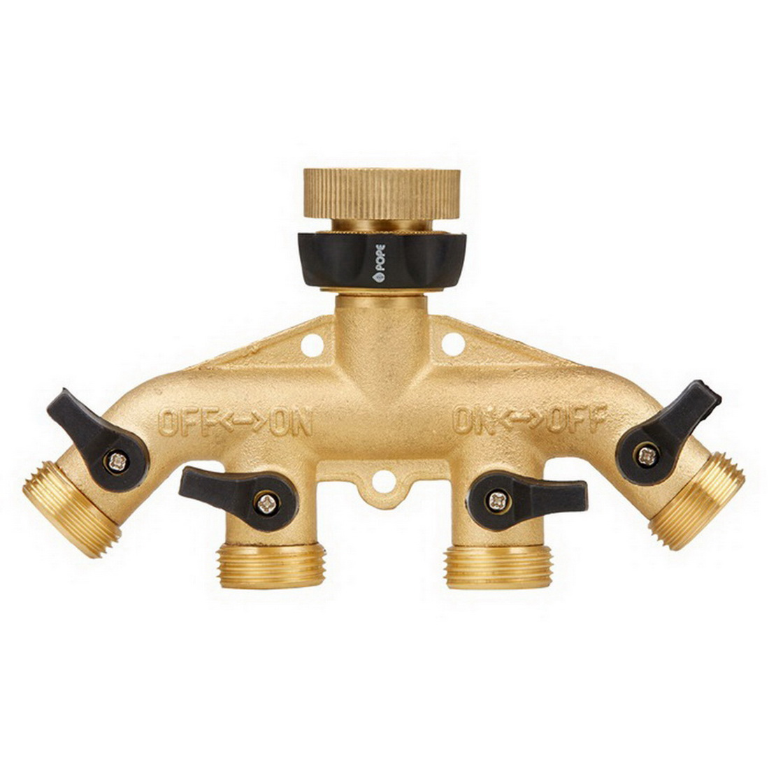 Brass Comfort Grip 4 Way Tap Threaded 12mm Connection