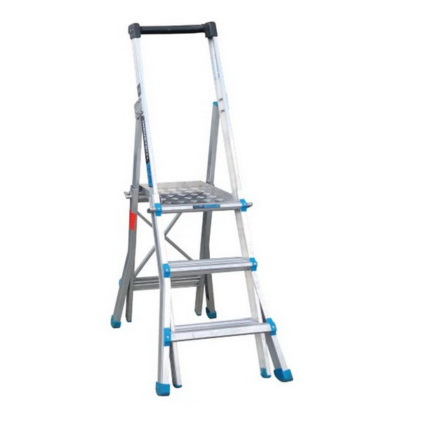 1.2-2m 200kg 4-7 Step Adjustastep Height Telescopic Platform Ladder Aluminium