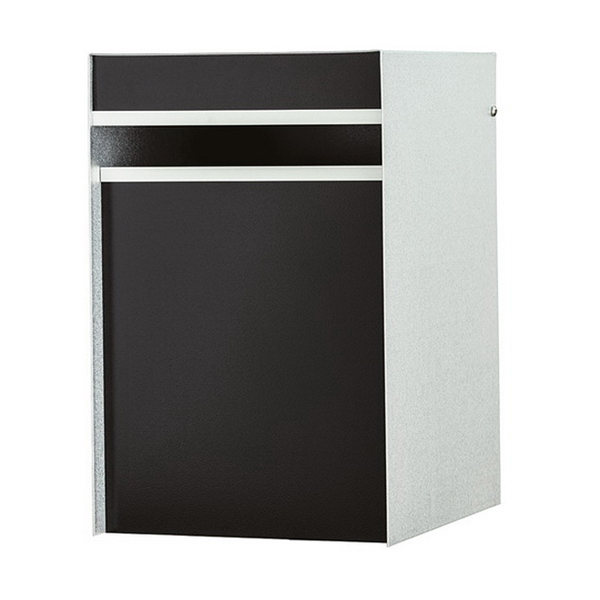 Designer Back Open Letter Box 250 x 300 x 390 in Full Black DLBFULLBLK