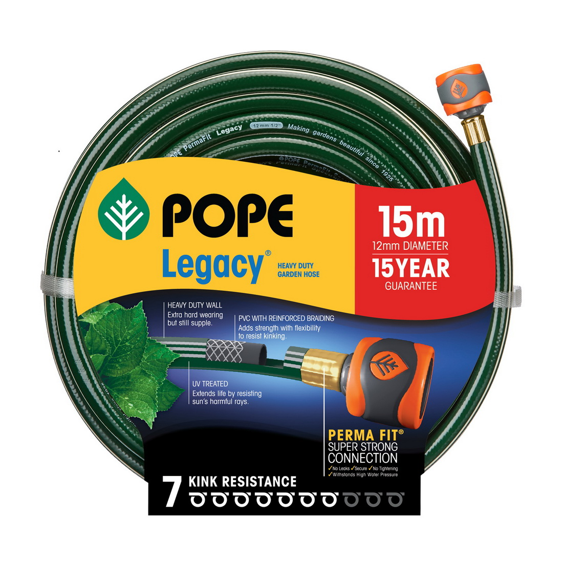 Legacy Tap Ready Fitted Garden Hose 12mm x 15m