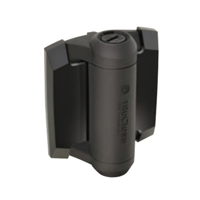 EliteFence Heavy Duty Pedestrian Gate Hinge Charcoal Black