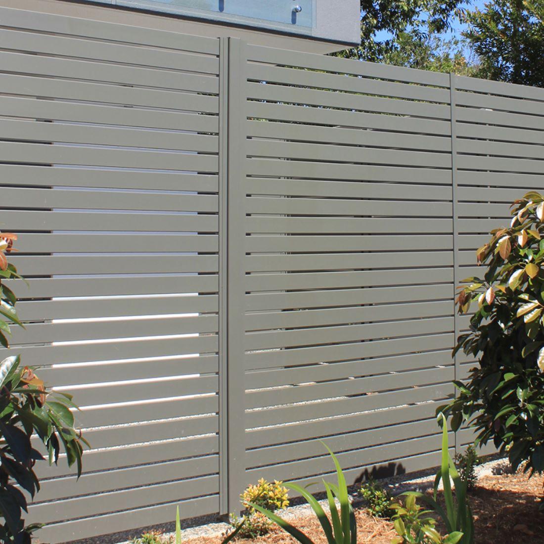 EliteFence 2400x1800mm Aluminium Slat Box Grey