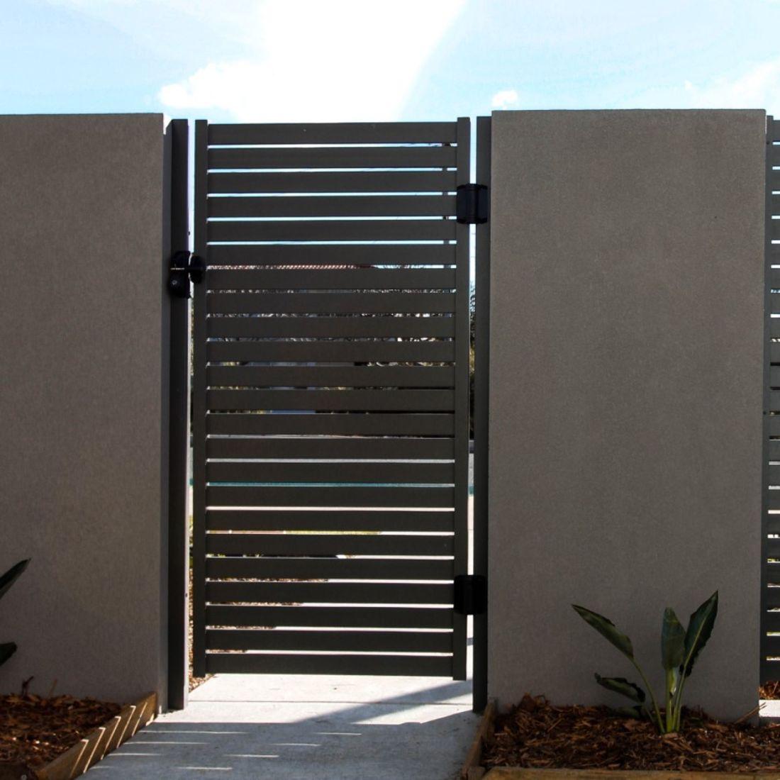 R Range Pedestrain Gate Charcoal 1000 x 1800mm ELI-GATE-CHC-1018BX