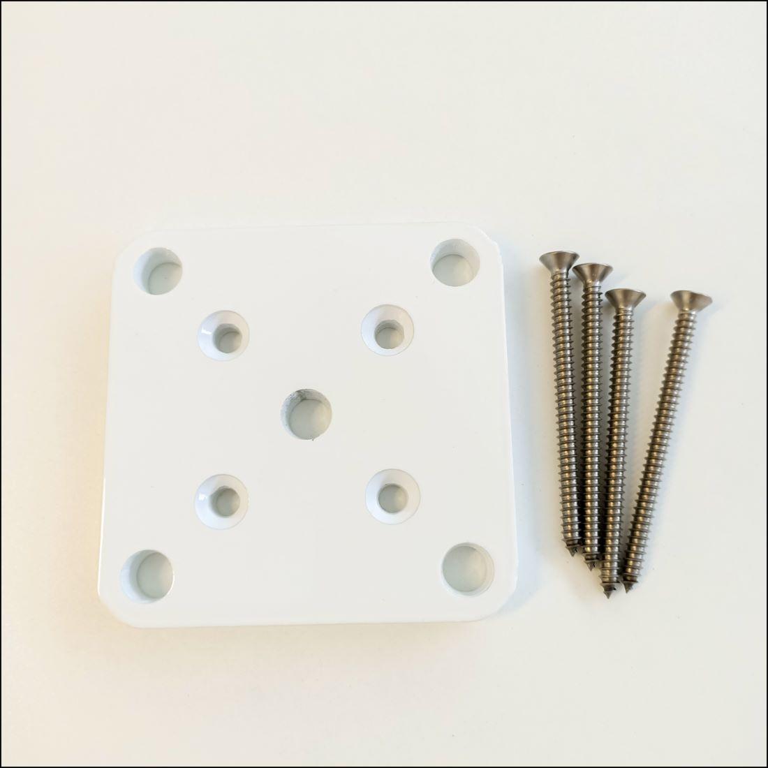 50 x 50mm Base Plate Set White