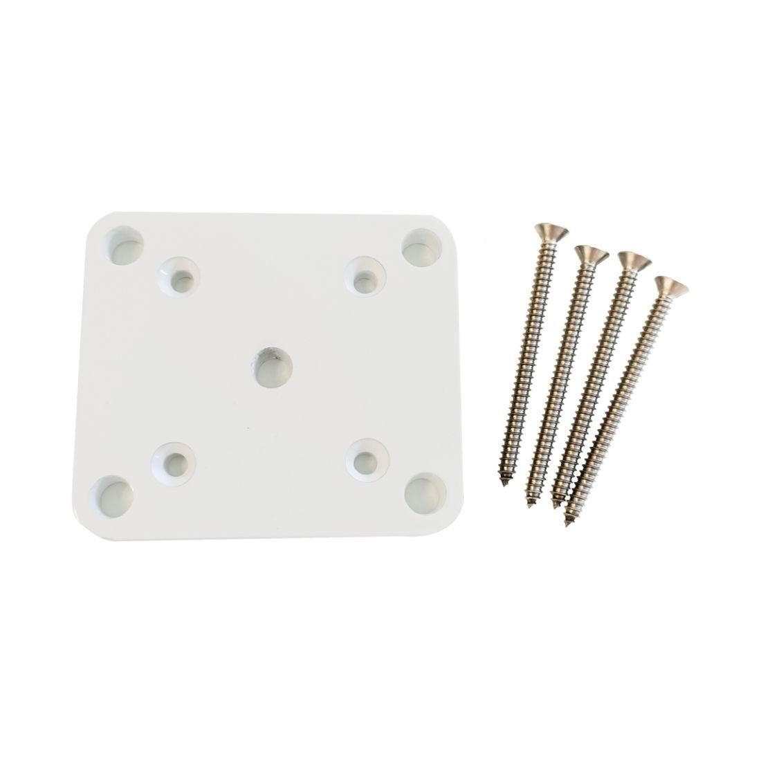 Base Plate Set White 50 x 50mm ELI-BASE-WHT-PLT50