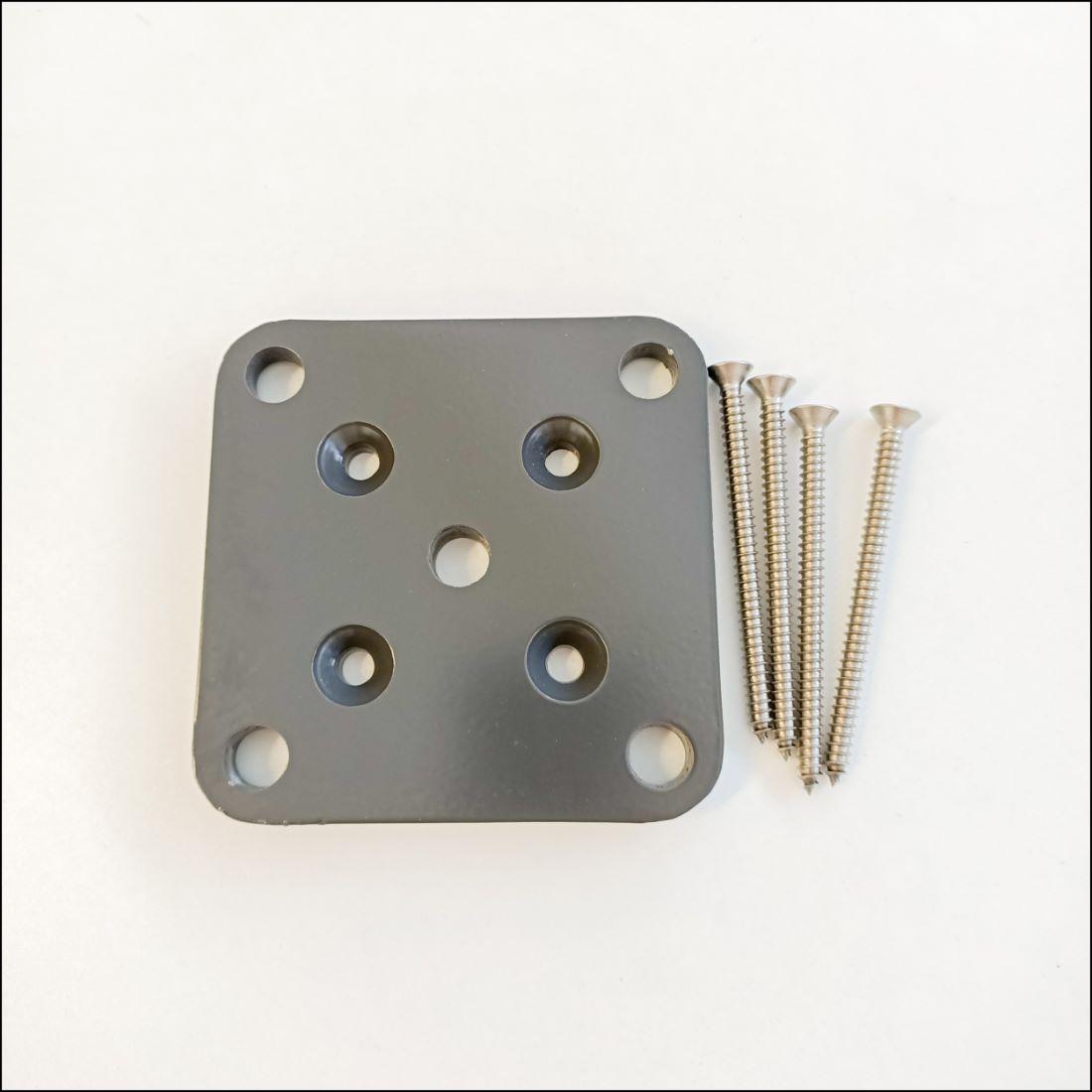 50 x 50mm Base Plate Set Grey