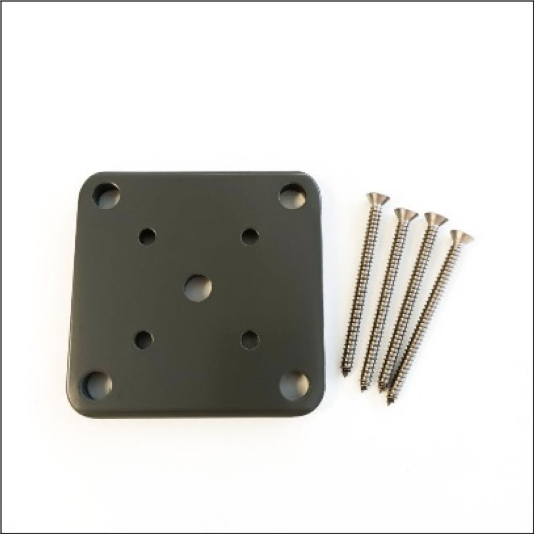 Base Plate Set Charcoal 50 x 50mm ELI-BASE-CHC-PLT50