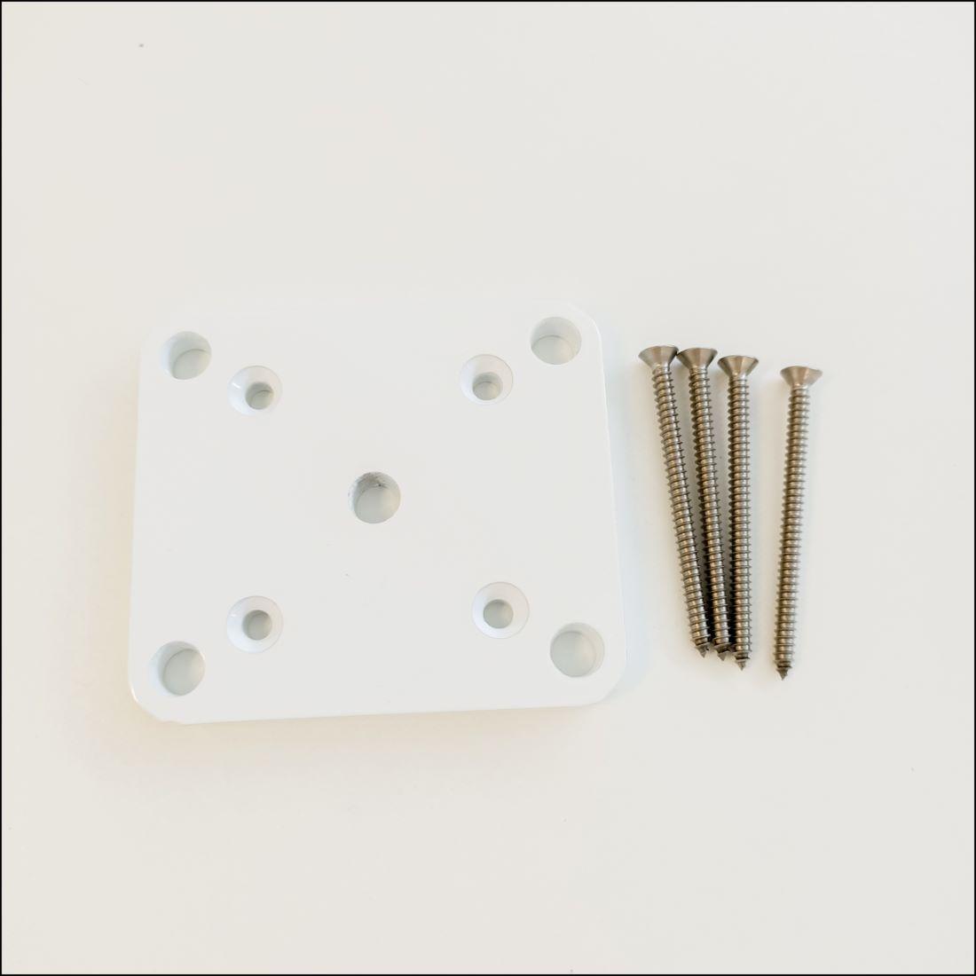 65 x 65mm Base Plate Set White