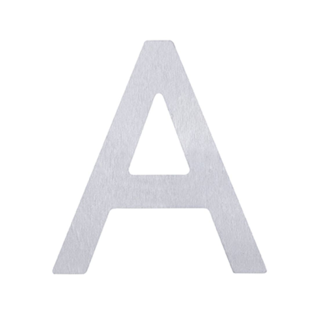 Adhesive Letter A Stainless Steel 75mm 5371-A-SS