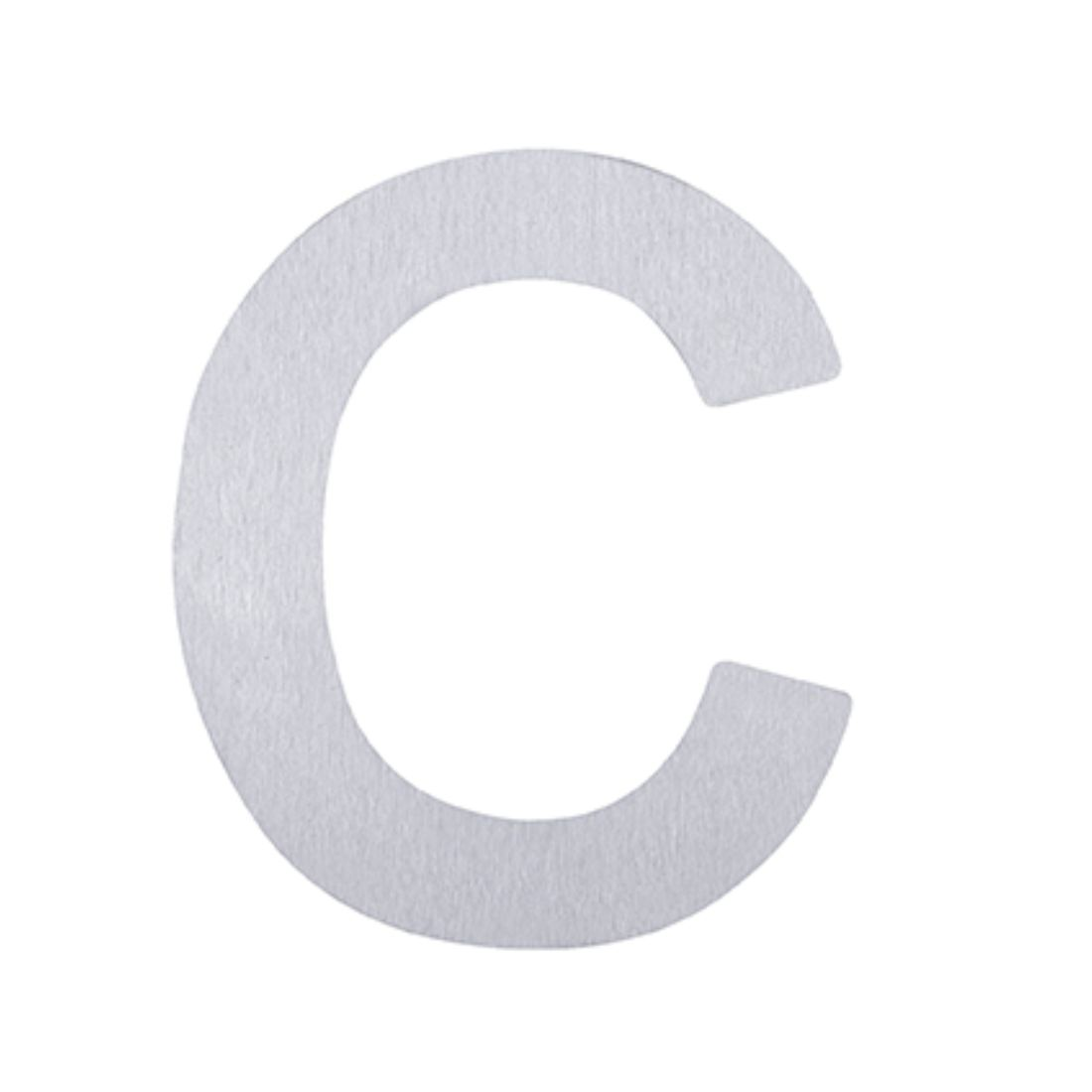 Adhesive Letter C Stainless Steel 75mm 5371-C-SS