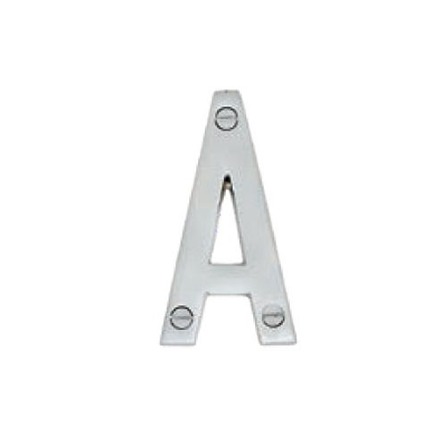 Hardware Modern Letter A Polished Brass 76mm 5301-A-PB