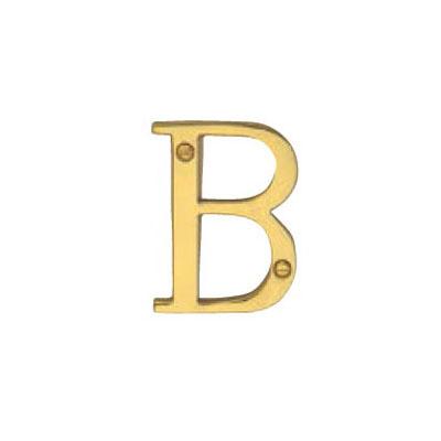 Hardware Victorian Letter B Polished Brass 50mm 5013-B-PB