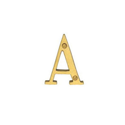 Hardware Victorian Letter A Polished Brass 76mm 5014-A-PB