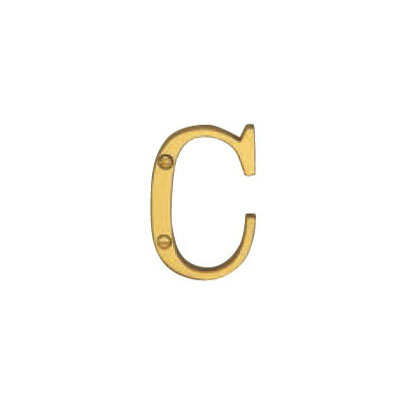 Hardware Victorian Letter C Polished Brass 50mm 5013-C-PB